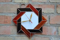Wall Clock Stained Glass Celtic in red black and by ZangerGlass