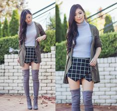 Isabel Z - Stelly Clothing Anorak Jacket, Tobi Skort, Witchery Knit, Witchery Over The Knee Boots - New boots