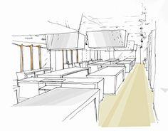 Icca Interior Design Sketch 01 Aram Interior And Landscape Design Interior Design Sketch Portfolio