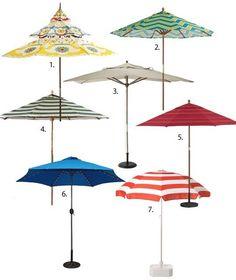 Summer Essential: Patio Umbrellas