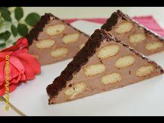 Prajitura cu piscoturi si foi de napolitane - YouTube No Bake Desserts, Dessert Recipes, Romanian Food, Tiramisu, Bacon, Deserts, Cooking Recipes, Sweets, Cookies