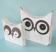 wood owls too cute