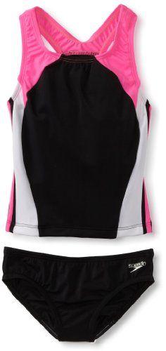 Speedo Girls 7-16 Solid Infinity Splice Tankini Swimsuit, Black, 7 Speedo,http://www.amazon.com/dp/B009TPKGVU/ref=cm_sw_r_pi_dp_O4Hwtb15W790SS8Z
