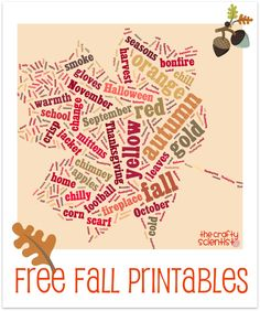 20Free Fall Printables! from The Crafty Scientist @Mel the Crafty Scientist
