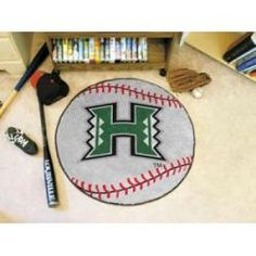 "Hawaii Warriors Baseball Rug 29"" Diameter"