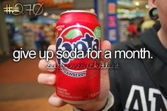 I can live with out soda