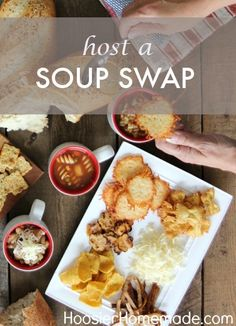 For a fun fall gathering with friends, host a Soup Swap Party! Get together with pals to share soup recipes, enjoy bread, cheese and crackers, and the good company of companions!