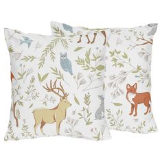 Gray & Blue Woodland Toile Throw Pillow - Sweet Jojo Designs® : Target