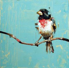 Frank Gonzales is an artist that is garnering a well deserved buzz in the art community.His textured and colorful renditions of birds and. Illustrations, Illustration Art, Art For Art Sake, Art Graphique, Animal Paintings, Bird Paintings, Canvas Paintings, Painting Art, Bird Art