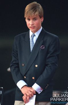 Prince William attends, The VJ Day 50TH Anniversary Celebrations in London..