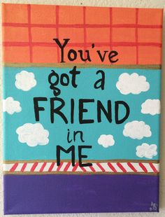 Toy Story Disney Friendship Quote Canvas