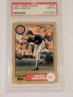 1987 Maddux Rookie Topps Traded #70T Psa Garded 9 Mint Baseball Card by Topps. $35.99. PSA Graded 9 Mint. Free First Class Shipping Upgrade.