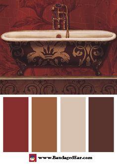 Bathroom Color Palette: Royal Red Bath I