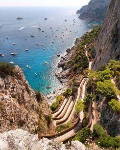 Capri, Italy (Europe) | ©Aneta Around The World In 80 Days, Beauty Around The World, Places Around The World, Around The Worlds, Vacation Places, Places To Travel, Capri Italy, Italy Tours, Sorrento
