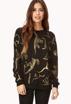 Dino Fossil Sweatshirt | FOREVER21 - 2040495293  $19.80  Size: Medium