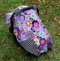 Fun And Elegant Purple Floral Car Seat Canopy On Etsy 4000