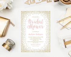 Confetti Bridal Shower Invitation by fineanddandypaperie on Etsy