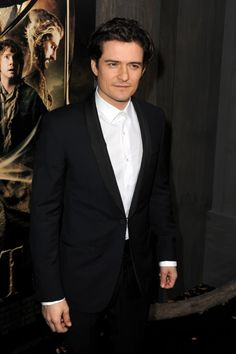 Orlando Bloom at The Hobbit's NYC premiere