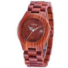 Bosco Orologio - Wooden Bangle Unisex Masculino Quartz Watch with Calendar Display