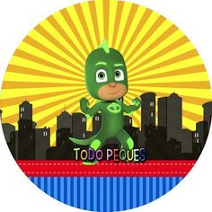 etiquetas-gekko-pj-masks-stickers-gekko-pj-masks-imprimibles-toppers-pj-masks