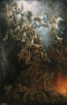 the fall of the damned Artwork by marc fishman