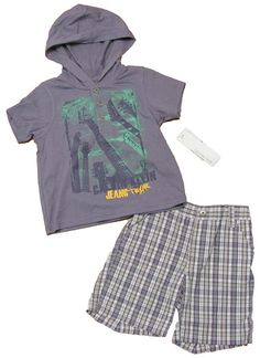Calvin Klein Jeans Baby Hooded Shirt and Shorts Set