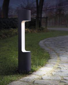 moderne Éclairage de trottoir ip54 80 cm Haute DEL Jardin éclairage en aluminium dans Anthracite