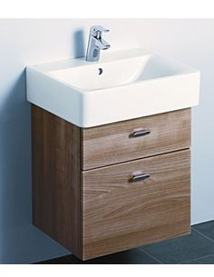 ideal standard bathroom cabinets ultra glide walnut finish wall hung vanity unit bathroom 18788