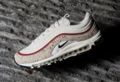 e450d7b7cfa Nike Air Max 97 Men s women s Running Shoes White Red Color  312834-102