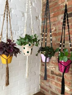 80 Fantastic DIY Macrame Plant Hanger Ideas - Unique Balcony & Garden Decoration and Easy DIY Ideas Macrame Plant Holder, Plant Holders, Balcony Planters, Balcony Garden, Painted Plant Pots, Large Macrame Wall Hanging, All Plants, Plant Hanger, Easy Diy