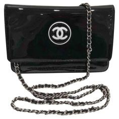 1cb09d0b19e071 Wallet on Chain patent leather crossbody bag Chanel Woc, Chanel Wallet, Chanel  Black,
