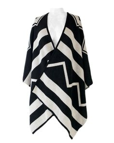 ClaudiaG Collection - ClaudiaG Shawl - Black&White SPECIAL Black Friday Pricing through 11/27