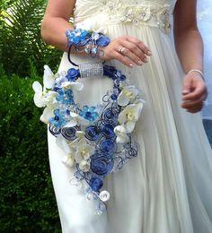 Alternative Blue cascade orchid bouquet  and by wandadesign, €160.00