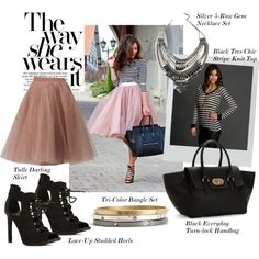 """The Way She Wears It"" by windsorstore on Polyvore #tulleskirts #tulle #skirts"