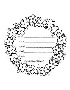 This is a very simple 5 senses poem for kindergarten or first grade. I print on colored card stock. I have other seasons available. Poetry Unit, Writing Poetry, Easter Activities, Spring Activities, 5 Senses Poem, Nursery Rhymes Poems, Teach Like A Champion, Kindergarten Poems, Spring Poem