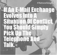 #NetworkingRx: What do you do to avoid a heated exchange?
