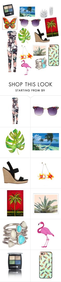 """""""My Tropical Day/Look"""" by galaxygirlsydney ❤ liked on Polyvore featuring interior, interiors, interior design, home, home decor, interior decorating, Miss Selfridge, Sunny Rebel, Jean-Michel Cazabat and Karen Kane"""