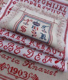 Steekjes & Kruisjes van Marijke - old samplers from my collection
