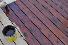 Australian timber oil by Cabot Stain transforms the wood on your deck to a deep and richer color. Back steps Deck Stain Colors, Deck Colors, Room Paint Colors, Paint Colors For Living Room, Trex Decking, Decking Ideas, Fence Ideas, Porch Ideas
