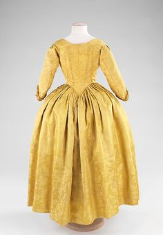 Dress Date: 1775–85 Culture: British Medium: silk Dimensions: Length at CB: 52 in. (132.1 cm) Credit Line: Brooklyn Museum Costume Collection at The Metropolitan Museum of Art, Gift of the Brooklyn Museum, 2009; H. Randolph Lever Fund, 1967