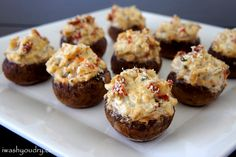 Sun Dried Tomato and Basil Stuffed Mushrooms from I Wash... You Dry