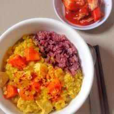 Korean Chicken Curry with Mung Bean #koreancurryrice