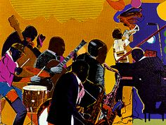 This would be a gorg painting for my music room, don't you think? Romare Bearden is one of my favorite American artists & my favorite Black artist.  He really captured the complexity of African American life, the visual art partner to August Wilson in my opinion!