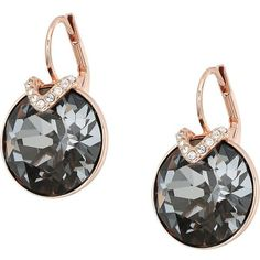 Swarovski Large Bella Pierced Earrings (Gray) Earring ($89) ❤ liked on Polyvore featuring jewelry, earrings, grey jewelry, gray earrings, swarovski earrings, gray jewelry and swarovski jewelry - Gift for women and girls, wedding & bridal. In our collection you'll find gold & 925 sterling silver products, ring, necklaces, earrings, bracelets, brooches, cuff links with Swarovski crystals. Sale 50% off!