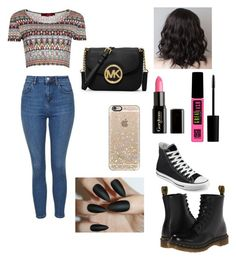 Untitled #49 by ninoskas-closet on Polyvore featuring polyvore, fashion, style, Boohoo, Topshop, Dr. Martens, Converse, MICHAEL Michael Kors, Casetify, Maybelline and Gorgeous Cosmetics