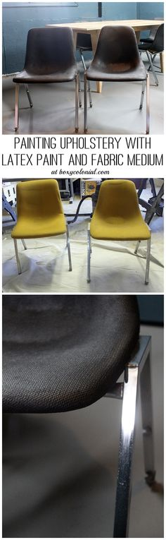 Vintage Shell Chairs with Painted Upholstery