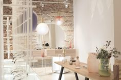 Phenomena collection by BOMMA in the new design store Deelive in the centre of Prague. Contemporary Architecture, Contemporary Design, Dining Table, Chair, Prague, Modern, Centre, House, Pendants