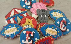Circus Theme Sugar Cookies