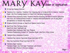 """""""Order of Application"""" Postcard front & back for Mary Kay Consultants. $6.00 for a pack of 30!"""