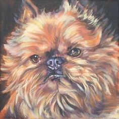 Brussels Griffon art print CANVAS print of LA by TheDogLover, $39.99